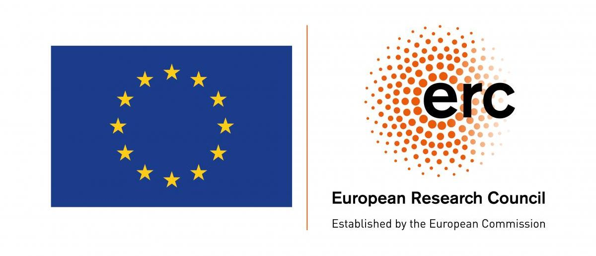 Logo of the European Research Council and flag of the European Union.