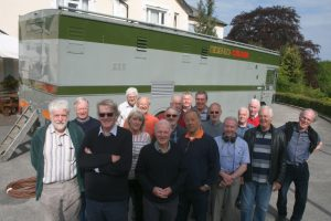 Retired BBC outside broadcast production staff reunited with North 3, a Type 2 colour mobile control room restored by Steve Harris