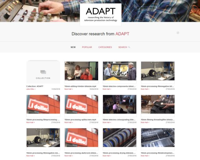 Screenshot of ADAPT collection on Figshare